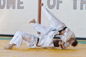 Shaun Eddy throws Mark Smith in the Nage no Kata