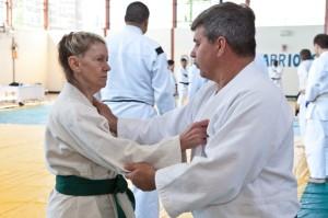 Lorraine Nardone working with her teacher, Kevin Hobbs