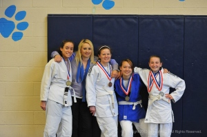 Team Moxie Coach Jani Palmer and her team from Frederick Fight Club