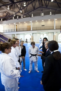 Sensei Jimmy Takemori giving advice to Judo Kata competitors