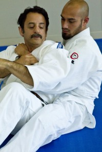 Rank doesn't matter when we come to learn together. Brad Lewis, Yodan with Oscar Machado, Rokkyu