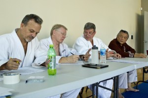 Judges make the event happen. Eric Spears, Tim Redden, Kevin Hobbs, and Edwin Takemori