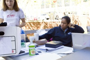 Volunteers keep our events together. Anna Cezair-Mayers and Zoey McPartland worked registration for back to back events.