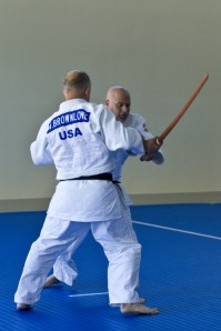 The floor is not the only weapon used in Judo. Swordplay in Kime No Kata.