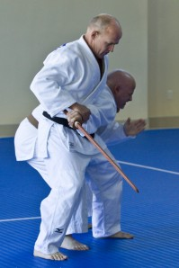 Armlocking the sword arm with waki gatame