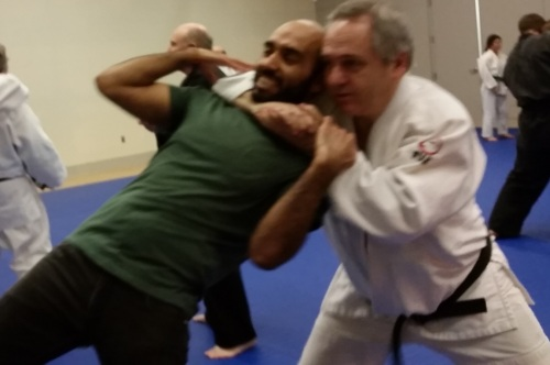 Sensei Terence demonstrates what happens when you forget your gi at home