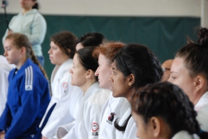 Competitors listen intently