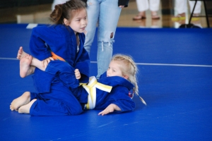 Teammates Katie Tamai and Cheyenne Hall from College Park Judo Club (CPJC)