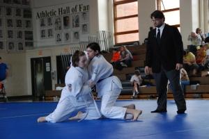 Ava Daugherty (Washington) grapples Mia Di Stefano (DC Judo)