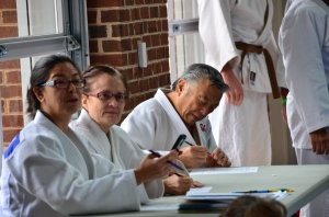 Judges (and clinicians) Diane Jackson, Karen Whilden, and Edwin Takemori