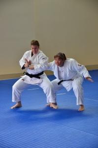 Leah Fisher (DC Judo) and Margie Kettl (Huio) showed their Goshin Jutsu