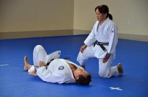 Miki Takemori graciously volunteered to do Katame No Kata with John Fay at the last moment.